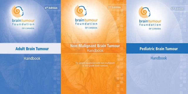 Three Brain Tumour Patient Handbooks